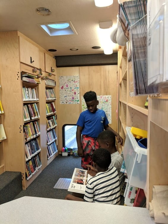 Children enjoy access to free books on Read Rover.