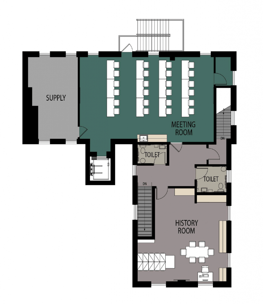 Floorplan for the renovated second floor.